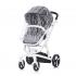 Комбинирана бебешка количка Електра 3 в 1 с бяла рама, колекция 2020